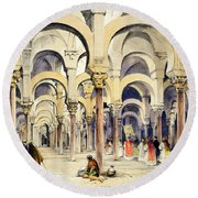 Mosque At Cordoba, From Sketches Round Beach Towel
