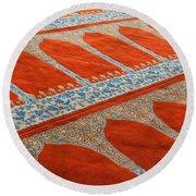 Mosque Carpet Round Beach Towel