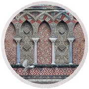 Mosque Cathedral Of Cordoba Also Called The Mezquita Round Beach Towel