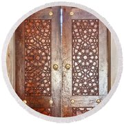Mosque Doors 03 Round Beach Towel
