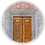 Mosque Doors 04 Round Beach Towel