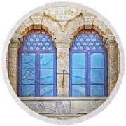 Mosque Windows 3 Round Beach Towel