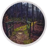 Moss Covered Path Round Beach Towel
