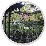Moss Garden Temple - Kyoto Japan Round Beach Towel