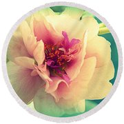 Moss Rose Abstract Round Beach Towel