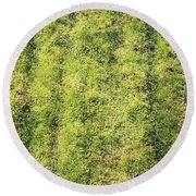 Mossy Grass Round Beach Towel