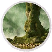 Mossy Old Oak Round Beach Towel
