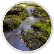 Mossy Stream Round Beach Towel
