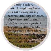 Most Powerful Prayer With Seashore Round Beach Towel