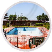 Motel Pool 3 Round Beach Towel