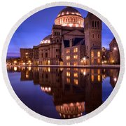 Mother Church Boston Round Beach Towel