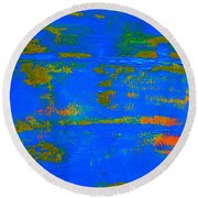 Mother Earth 1 Abstract Round Beach Towel