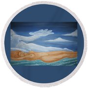 Mother Earth Round Beach Towel