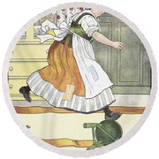 Mother Goose, 1916 Round Beach Towel