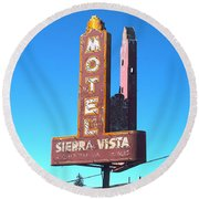 Mother Road Motel Round Beach Towel
