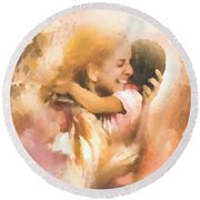 Mother's Arms Round Beach Towel