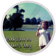 Mother's Day 1964 Round Beach Towel