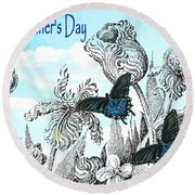 Mothers Day Round Beach Towel