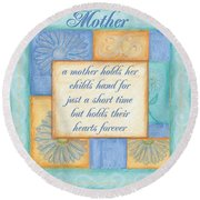 Mother's Day Spa Card Round Beach Towel