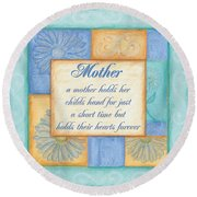 Mother's Day Spa Round Beach Towel by Debbie DeWitt