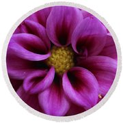 Mothers Flowers Round Beach Towel