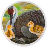 Mother's Love Round Beach Towel