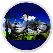Mother's Nature Round Beach Towel