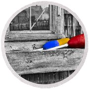 Motif Number One Sunrise Reflections Bw Round Beach Towel