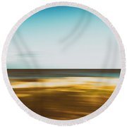 Motion 1 Round Beach Towel