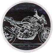Moto Art 41 Round Beach Towel