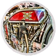 Motorcycle - 1914 Excelsior Auto Cycle Round Beach Towel