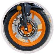 Motorcycle Wheel Round Beach Towel