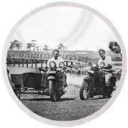 Motorcycles Set Golf Record Round Beach Towel