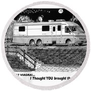 Motorhome Viagra Moonlight R V Camping Round Beach Towel