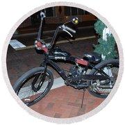 Motorized Bicycle Round Beach Towel
