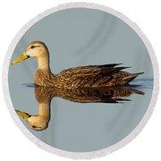 Mottled Duck Round Beach Towel