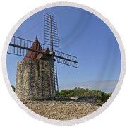 Moulin De Daudet Fontvieille France Dsc01833 Round Beach Towel