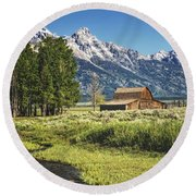Moulton Barn Round Beach Towel