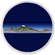 Mount Ararat Turkey Round Beach Towel