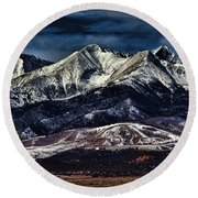 Mount Blanca Round Beach Towel