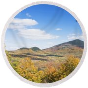 Mount Blue State Park In Fall Weld Maine Round Beach Towel