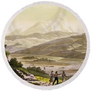 Mount Cayambe, Ecuador, From Le Costume Round Beach Towel