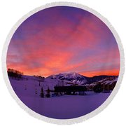 Mount Crested Butte 2 Round Beach Towel