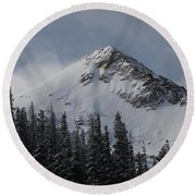 Mount Crested Butte 3 Round Beach Towel