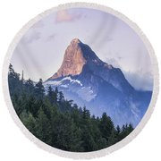 Mount Denman In Desolation Sound Marine Round Beach Towel