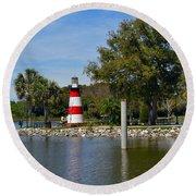 Mount Dora Lighthouse Round Beach Towel