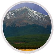 Mount Elbert Round Beach Towel