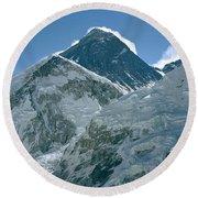 Mount Everest Morning Round Beach Towel