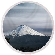 Mount Fuji Japan Round Beach Towel
