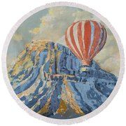 Mount Garfield  Round Beach Towel
